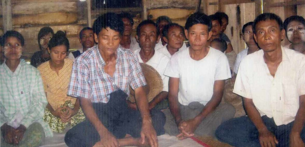 Evangelist Aung Shine met with village leaders and others to discuss Jesus Christ.
